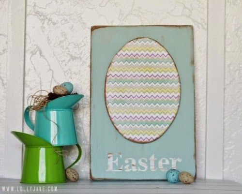 Foam egg Easter sign