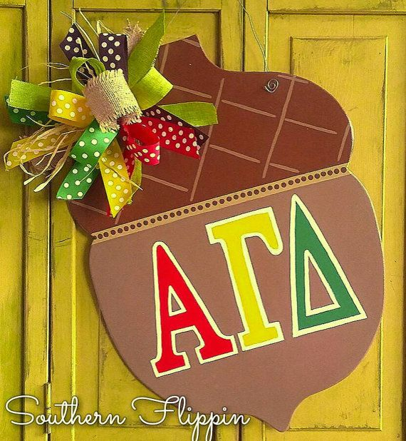 Check out this item in my Etsy shop https://www.etsy.com/listing/482239233/alpha-gamma-delta-college-sorority-acorn