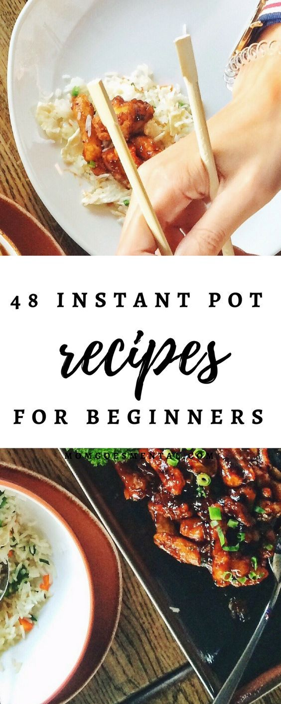48 Instant Pot Recipes for Beginners - Meat Lover and Vegetarian Recipes for Dinner and Breakfast! These are so yummy, you're sure to have tons of leftovers. via @momgoesmental