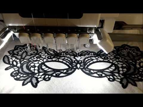 How to make free standing lace / Кружева на вышивальной машине - YouTube