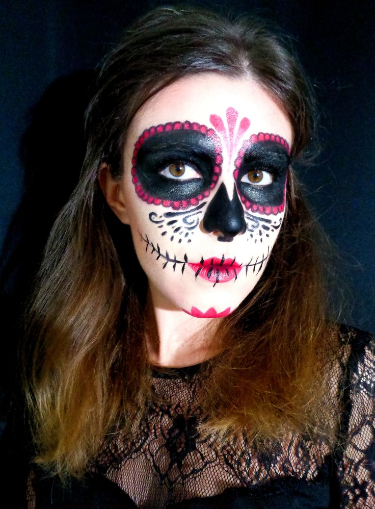 maquillage halloween mort