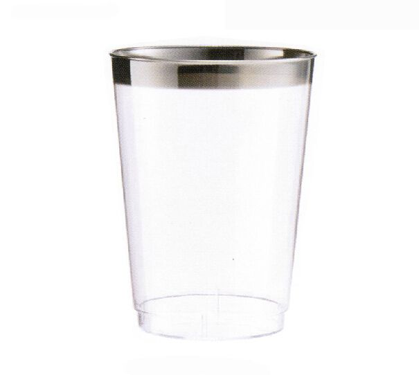 find more event u0026 party supplies information about event party wedding party suppliers disposable tableware 300ml silver rimmed disposable wine glasswine