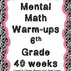 A few years ago I started adding a few mental math questions to the end of my student's warm-ups. I couldn't believe how much my students lov...
