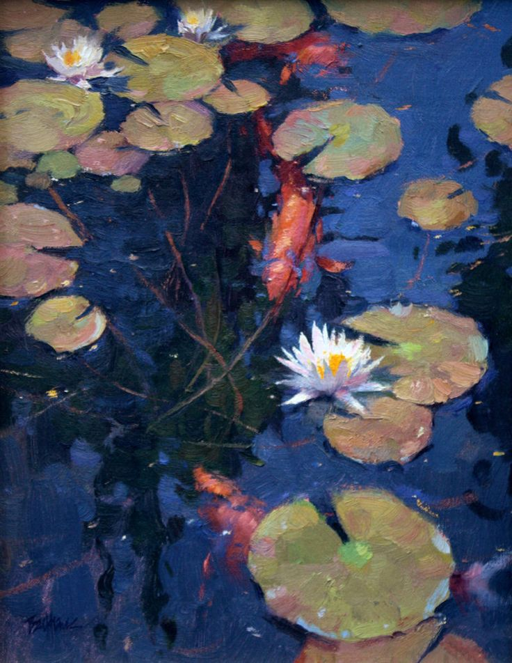 948 best a water lily images on pinterest water lilies for Koi pool paint