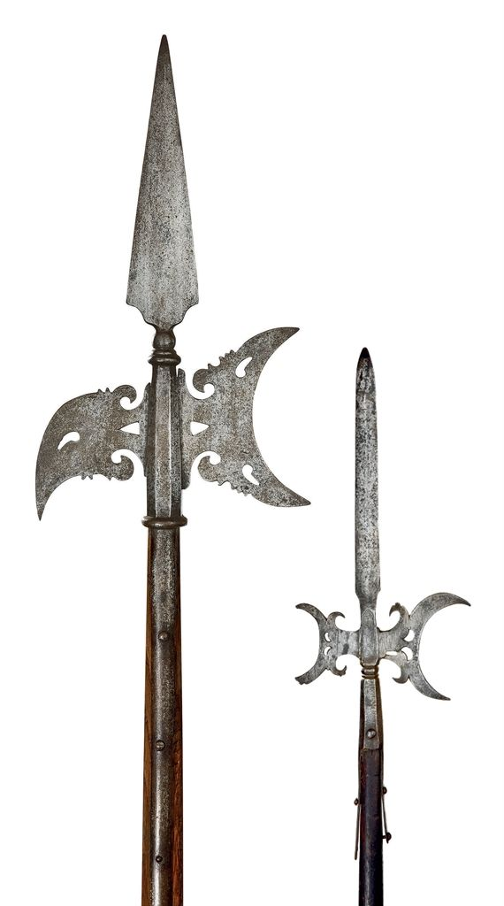 Two German halberds. Early 17th century.