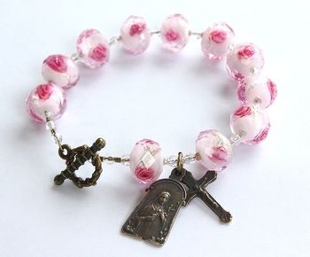 St. Therese of the Little Flower rosary bracelet