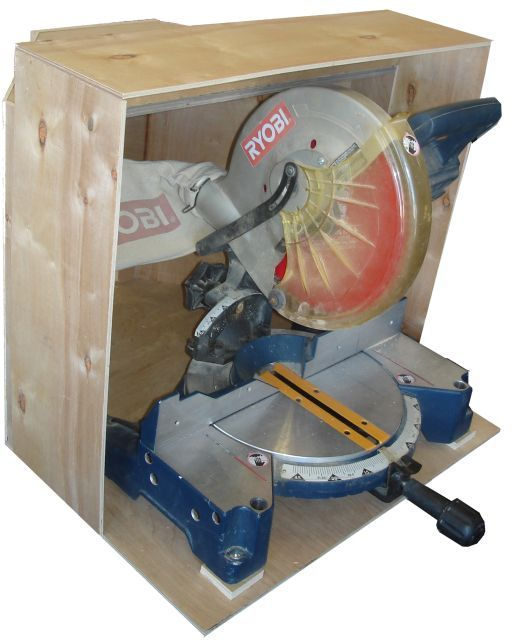 DIY dust collection hood for miter saw