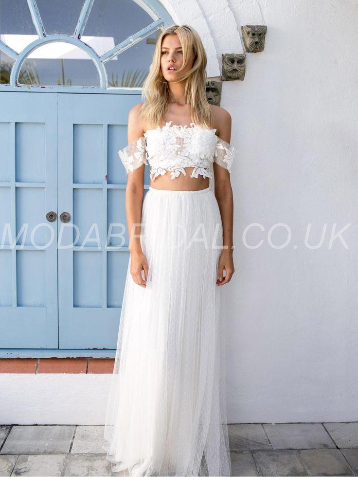 Modabridalcouk SUPPLIES Tailor Made A Line Sexy Hot Fall Strapless Boho Wedding DressBeach