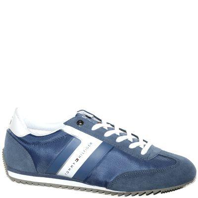 #Sneaker in tessuto blu