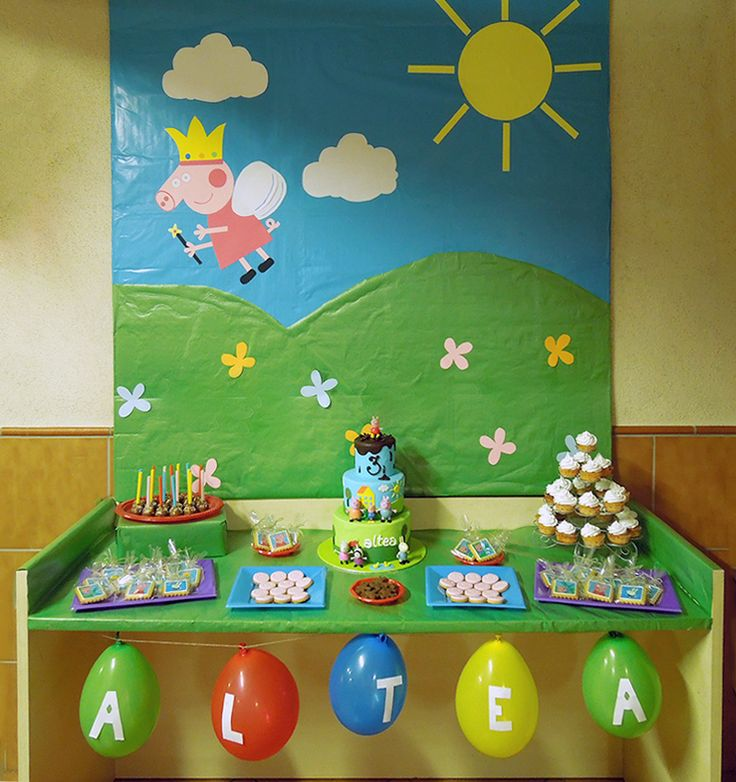 Mesa dulce Peppa Pig | sweet table | candy bar | birthday party