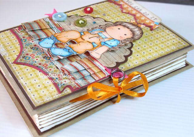I Love Scrapbooking: Book card - Timbroscrapmania challenge #26