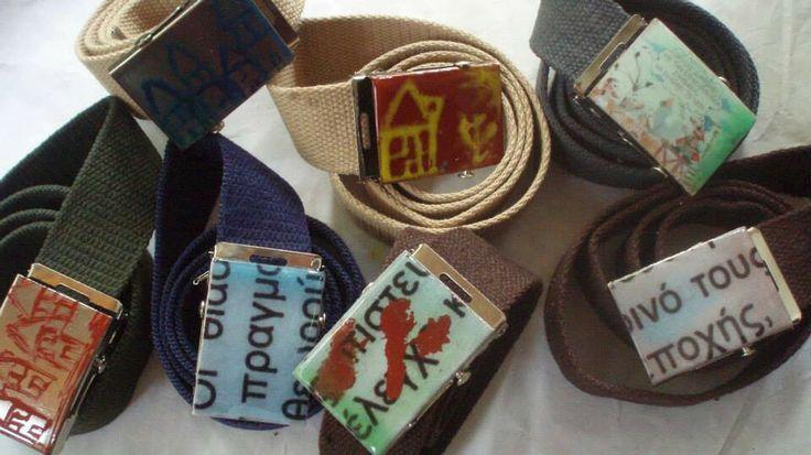 #belts #artepovera #handmade #inspirations #letters #childhood