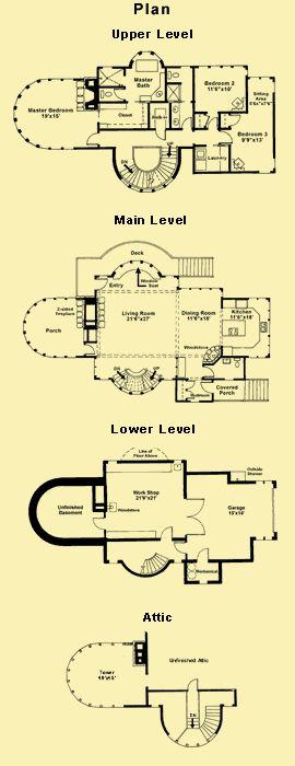 130 best images about floor plans house plans on pinterest for Unique lake house plans