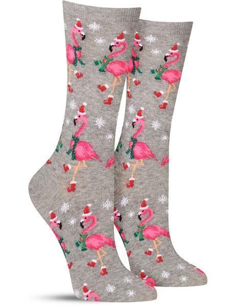 6ebcc5670352 Santa Flamingos Christmas   Women's Socks #merrychristmas  #holidaygiftguides #funsocks