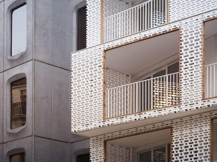 Odile + Guzy architectes, David Foessel · Berges - 28 social dwellings
