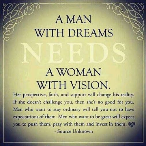 Enough said....dreams and visions go together!