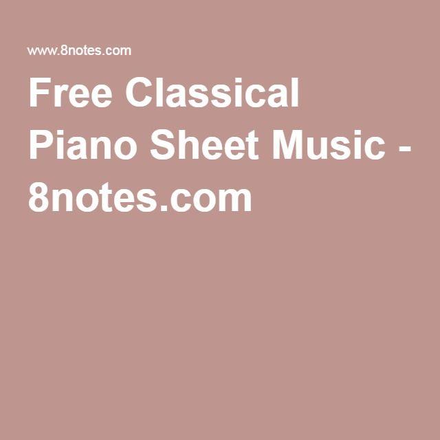 Free Classical Piano Sheet Music - 8notes.com