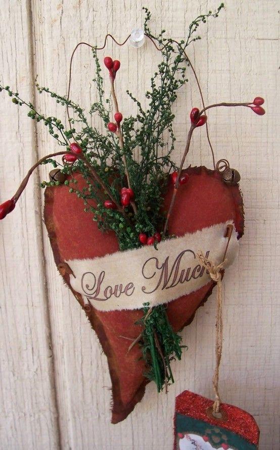 cuore shabby per san valentino