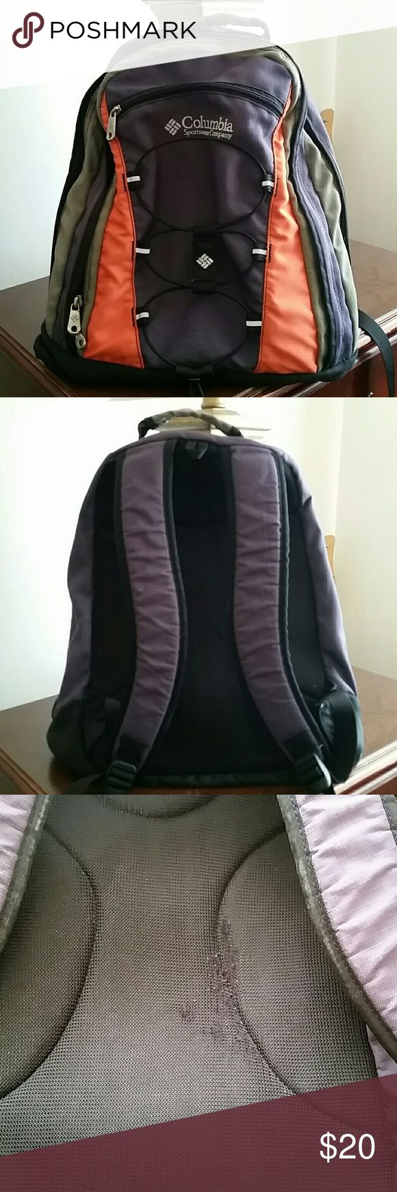 Pre Loved Columbia Backpack Able To Fit 15 Laptop Inside Replaced Old Shock Cord With New One Minor Fray On Back Pic 3 Bags Backpacks