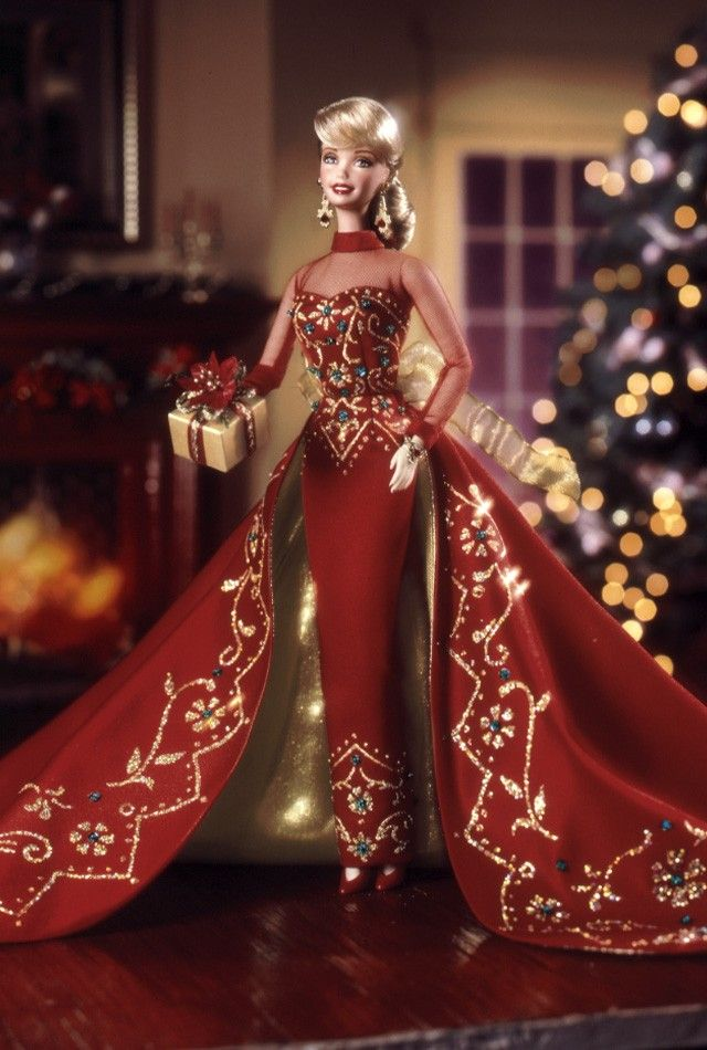 1998 Holiday Gift Barbie® | Holiday Porcelain Barbie Collection *PORCELAIN