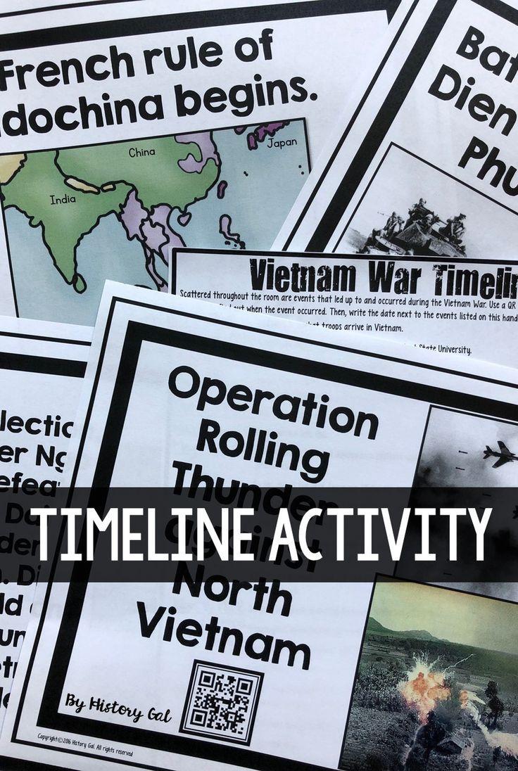 Vietnam War Timeline Activity Vietnam War Vietnam War Photos Vietnam War Veterans