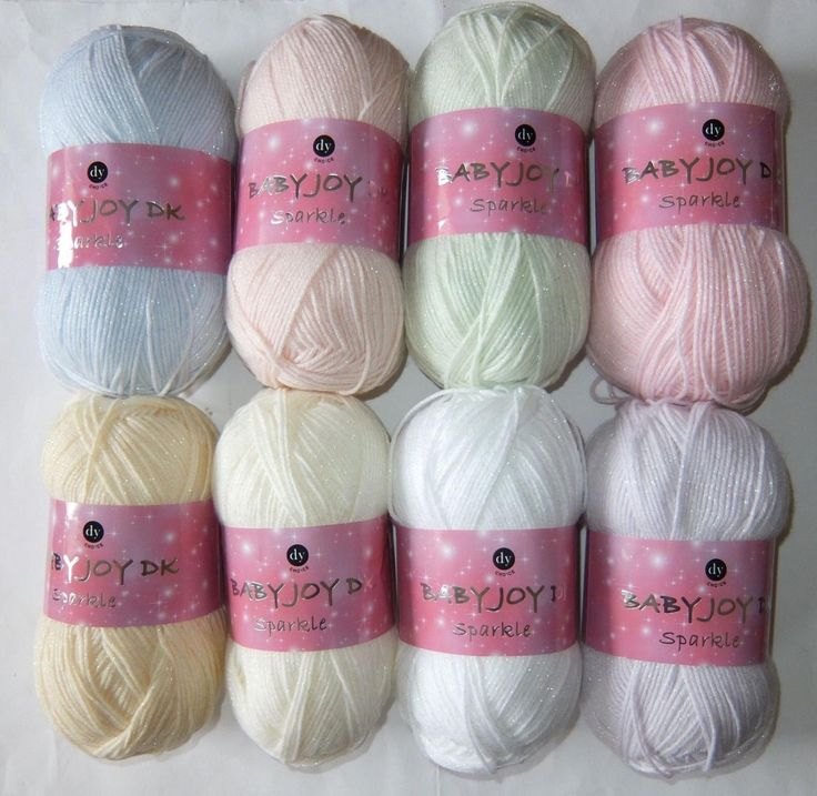 Designer yarns Baby joy sparkle  lots of colours DK knitting yarn pastels wool gm ball  acrylic new100gm by Bobbinswool on Etsy