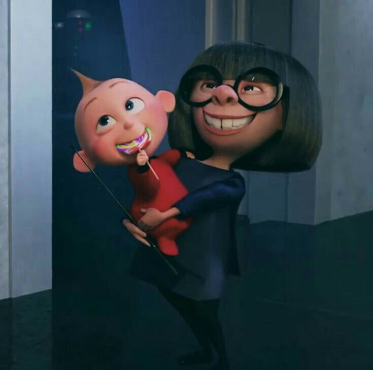 Edna Mode And Jack Jack Look Like They Are Up To No Good Haha Disney Cartoons Disney Disney Aesthetic