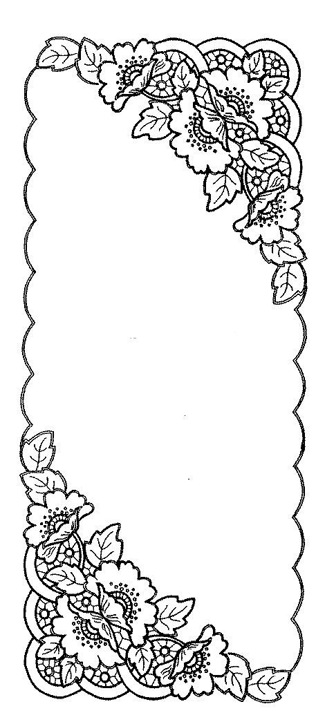 Ubrus obdélník richelieu, 99 x 43 cm