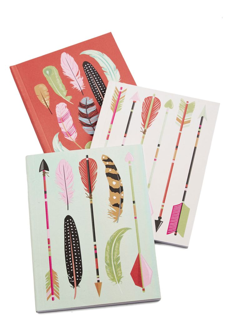 Archery Champ Journal Set. As the most skilled target archer in town, you quickly spotted this arrow-themed journal set with your keen eyes! #multi #modcloth