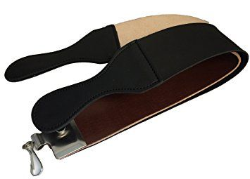 "Amazon.com: Leather Strop 2.5"" X 23.5"" Barber's Razor Strop Cow Hide, Dual Straps with Swivel Clip: Health & Personal Care"
