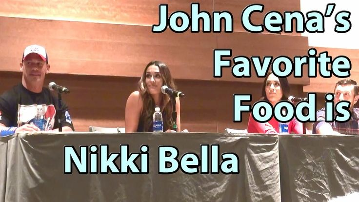 John Cena's Favorite Food is Nikki Bella Please Stand UP non-PG Answer Phoenix Comicon FanFest https://www.youtube.com/watch?v=eZlyGNGR620