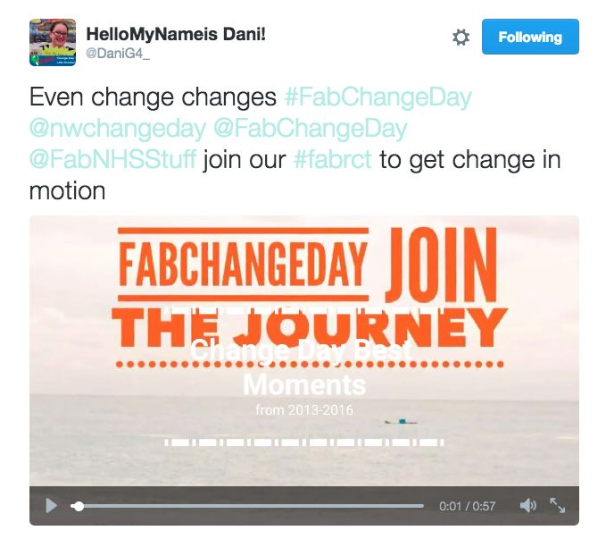 Join a #FabChangeDay #FabRCT video