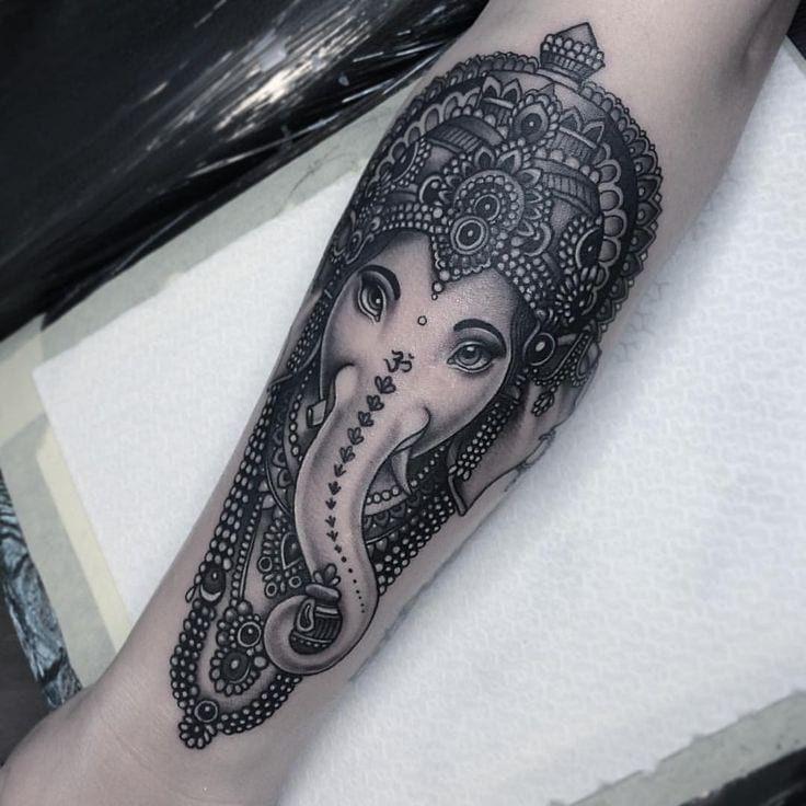 Ganesh Tattoo Forearm – CreativeFan