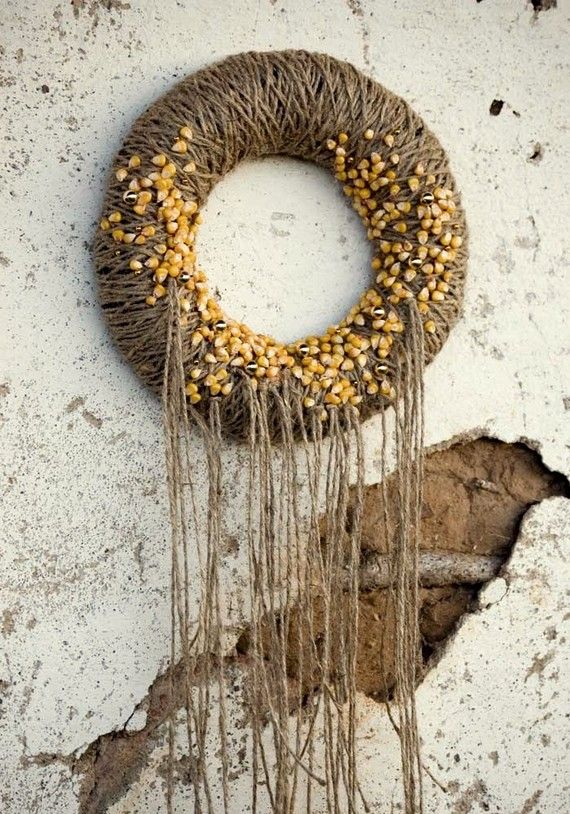 corn on the wreath