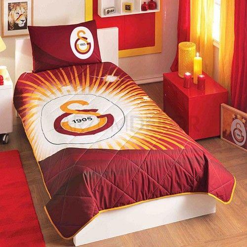 Taç Galatasaray Yıldız Logo Yatak Örtüsü Seti