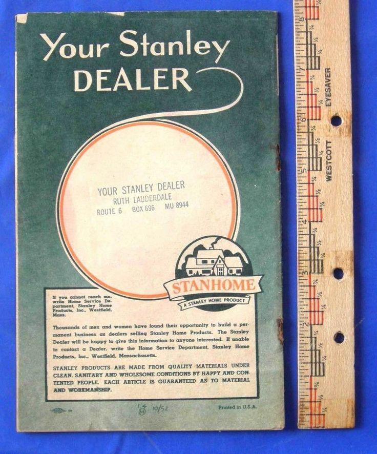 Vtg Brochure Stanhome 1952 Stanley Home Product Catalog