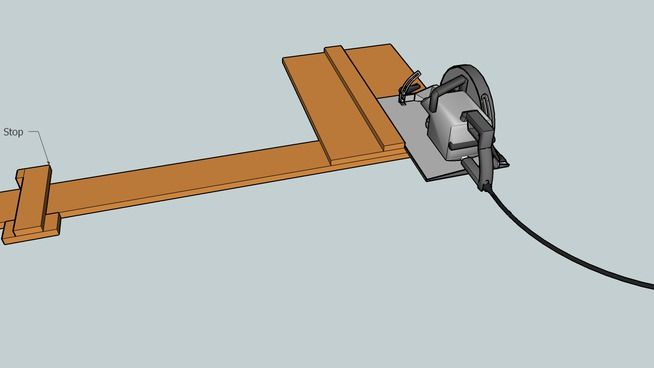 Circular Saw Jig for Repeatable Cuts - 3D Warehouse