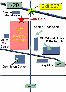 Canton Trade Days Flea Market - First Monday
