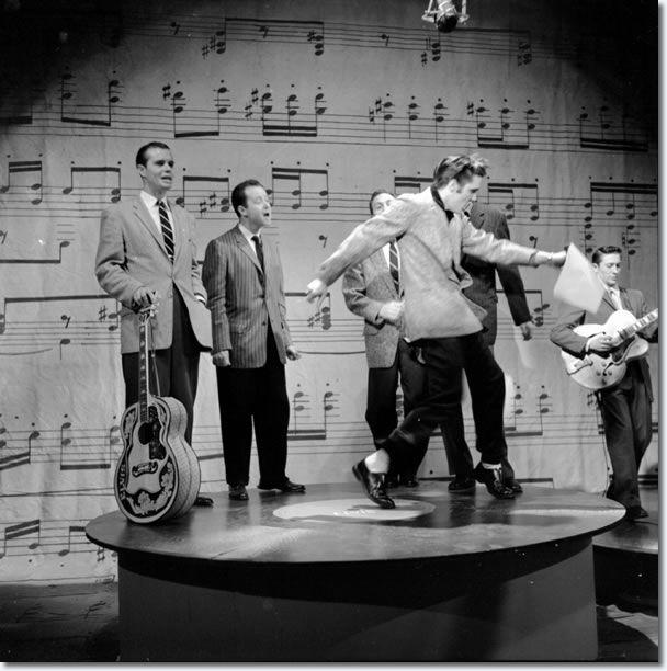 Elvis Presley rehearsing for The Ed Sullivan Show : January 6, 1957