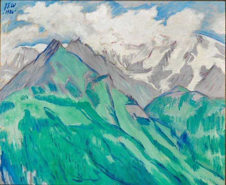Jens Ferdinand Willumsen (Danois 1863-1958) Snebjerge 1936