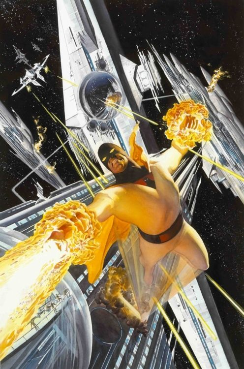 Space Ghost (by Alex Ross) I really wish they would bring this guy back