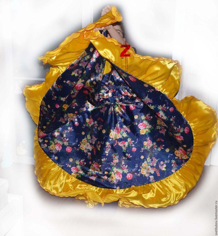 """Купить Цыганский костюм """"Цветочек"""" - Цыганский костюм, для танцев, танцевальный костюм, костюм цыганский"""