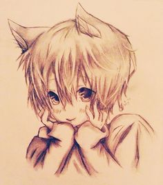 anime cat boy drawing - Google Search