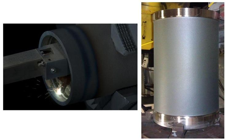 Laser Cladding technology allows for complete metallurgical bonding with minimal HAZ (heat affected zone) and dilution, along with a reduction in other undesirable side effects such as oxidation and decarburization.