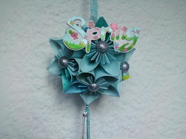 """Morning Glory"" [handmade kusudama paper flower to greet spring] <3"