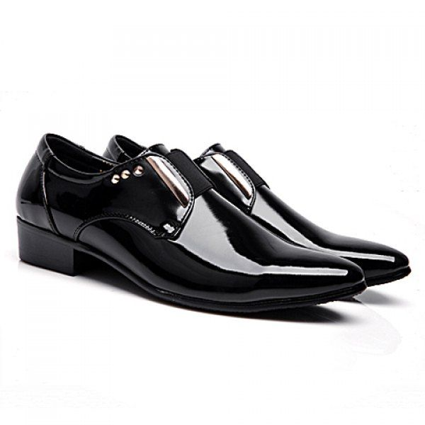 Dress Pointed Toe and Metallic Design Men's Formal Shoes