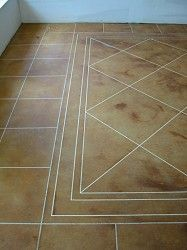Acid Etched Concrete Stain to simulate tile...PERFECT for the basement!!