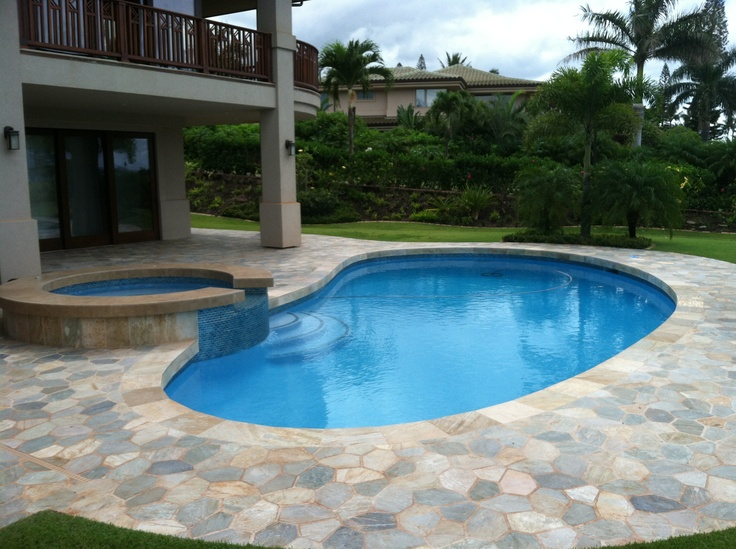 Wonderful Pool Finish Ideas For You To Copy: Refreshing! Crisp Catalina Blue Hydrazzo. Huber Pools, Inc