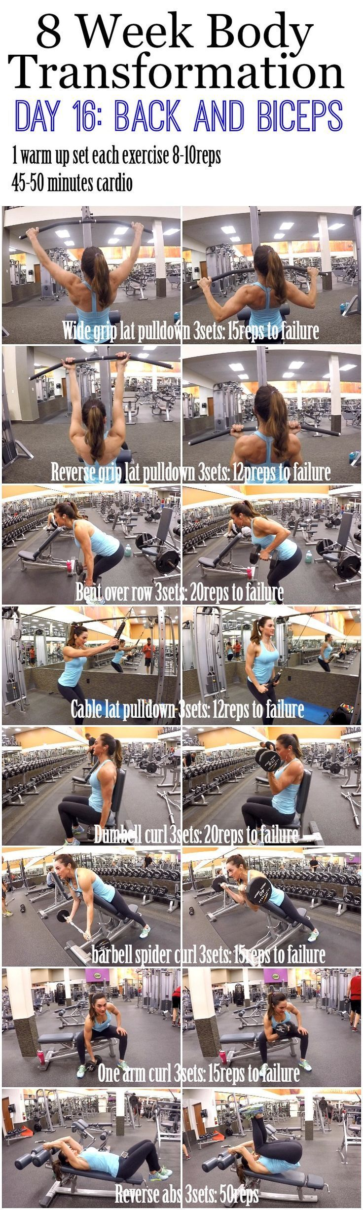 Build bigger biceps with this one trick cool 8 Week Body Transformation: Day 16 Back and Biceps - Fitness Food Diva
