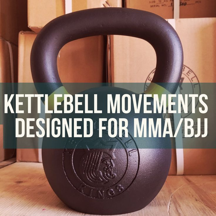 Kettlebell workouts designed for combat sports, mixed martial arts and Brazilian Jiu Jitsu